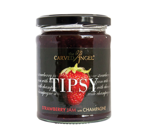 Tipsy Strawberry Extra Jam with Champagne (340g)