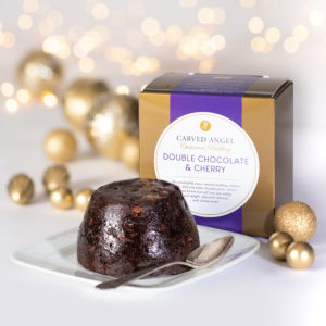Double Chocolate & Cherry Christmas Pudding