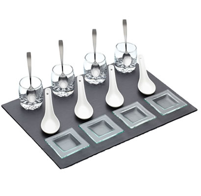 17 Piece Slate Appetiser Gift Set