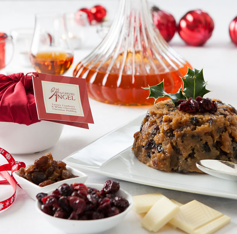 White Chocolate & Cranberry Christmas Pudding