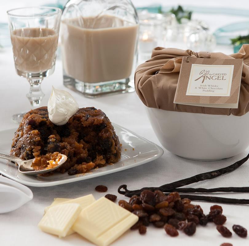Irish Whisky & White Chocolate Pudding
