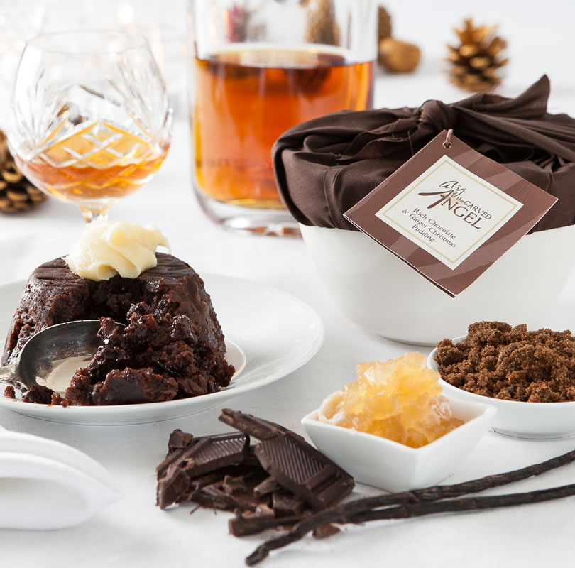 Rich Chocolate & Ginger Christmas Pudding